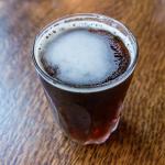 nitro cold brew in a glass